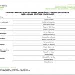Tabela Inscrições Candidatos